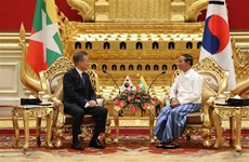 Korean President Moon Jae-in pays state visit to Myanmar