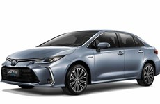 Toyota presents Corolla Altis hybrid sedan in Thailand