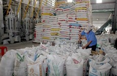 Eight-month rice exports down