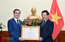 First-class Labour Order presented to outgoing Lao Ambassador