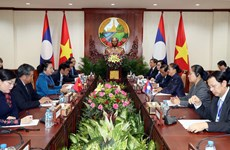 Vietnamese, Lao top legislators hold talks