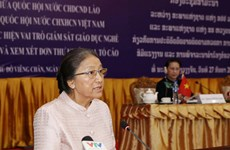 Lao top legislator highly values Vietnamese NA's experience