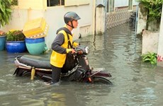 River tides reach flood warning level 3 in HCM City, Mekong Delta