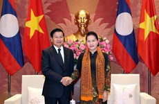 NA leader welcomes Lao PM in Hanoi