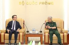Deputy Defence Minister Nguyen Chi Vinh receives foreign guests