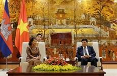 Hanoi, Phnom Penh look to foster cooperation