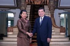 Cambodian Deputy Prime Minister's activities in Vietnam