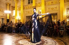 Vietnamese silk, brocade fashion show held in Russia