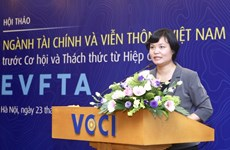 Workshop talks EVFTA's impact on financial, telecom sectors