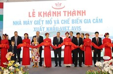 Poultry processing plant inaugurated in Thanh Hoa
