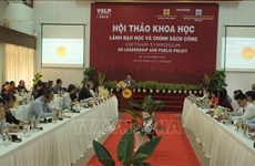 International symposium discusses leadership studies, public policy