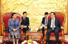 Party external relations chief welcomes Lao counterpart