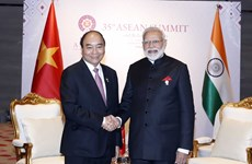 Vietnamese, Indian PMs meet in Thailand