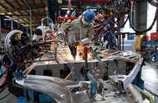 Ten-month industrial production index rises 9.5 percent