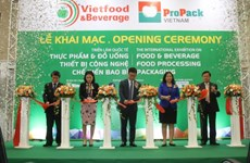 Int'l food, beverage expo underway in Hanoi