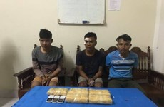 Quang Tri: three caught with 30,000 meth pills