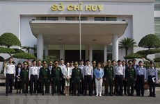 Japanese military delegation work with Lao Cai Border Guards