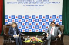 US Secretary of Defense gives speech at Diplomatic Academy