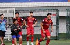 Men's and women's football teams leave for SEA Games 30