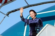 NA Chairwoman leaves Hanoi for Russia, Belarus visits