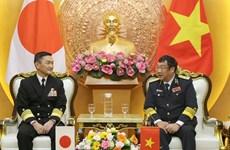 Japanese naval commander visits Vietnam