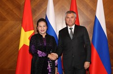 NA Chairwoman holds talks with leader of Russia's State Duma