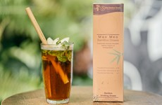 Vietnamese bamboo straws adorn world drinks