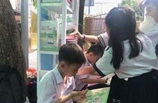 HCM City schools take libraries outdoors to encourage students to read
