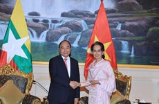 Vietnamese Prime Minister, Myanmar State Counsellor hold talks