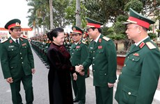 NA leader visits armed forces in Hai Phong city