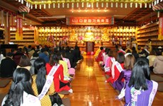 Vietnamese Buddhist followers in RoK celebrate upcoming New Year