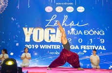 Yoga festival encourages people to practice