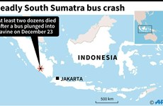 At least 24 die in bus accident in Indonesia