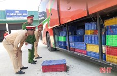 5 tonnes of wild animals found on bus in Ha Tinh