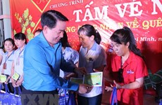 HCM City: Disadvantaged workers gifted tickets to return home for Tet