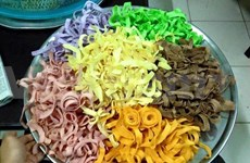 Candied coconut ribbons, a Tet delicacy