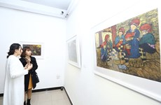 Art exhibition held to mark Party's founding anniversary