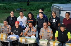 Indonesia seizes nearly 300kg of crystal meth