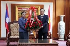 Laos proud at achievements of Communist Party of Vietnam: Lao officials