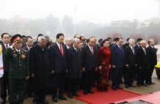 Party, State leaders pay tribute to President Ho Chi Minh on Party's anniversary