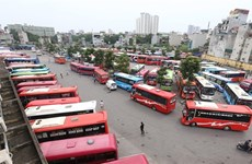 Surveillance cameras in buses on the way