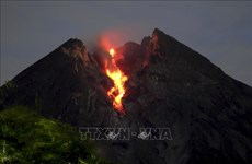 Indonesia issues warning as Mount Merapi erupts again