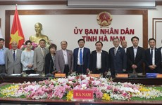 Japan's friendship association learns about investment climate in Ha Nam