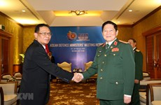 Defence Minister receives Indonesian army official