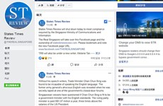 Facebook blocks users' access to States Times Review page in Singapore