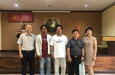 Vietnamese Embassy in Thailand receives rescued fishermen