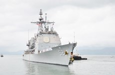 US naval ships' visit to Vietnam helps promote bilateral ties