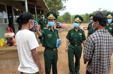 People entering Vietnam from Cambodia have to make medical declarations