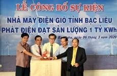 Bac Lieu wind power plant marks 1 billionth kWh