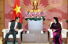 National Assembly Chairwoman receives out-going Japanese Ambassador